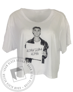 Alpha Sigma Alpha Biebs Flowy Short Sleeve-Adam Block Design