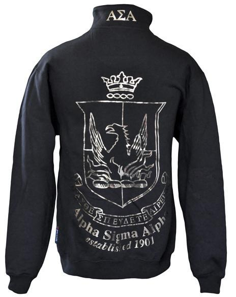 Alpha Sigma Alpha Crest Half-Zip-gallery-Adam Block Design