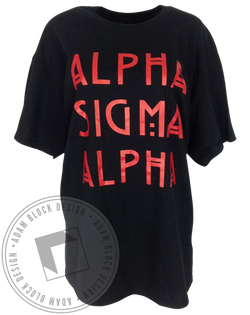 Alpha Sigma Alpha Halloween Tee-Adam Block Design