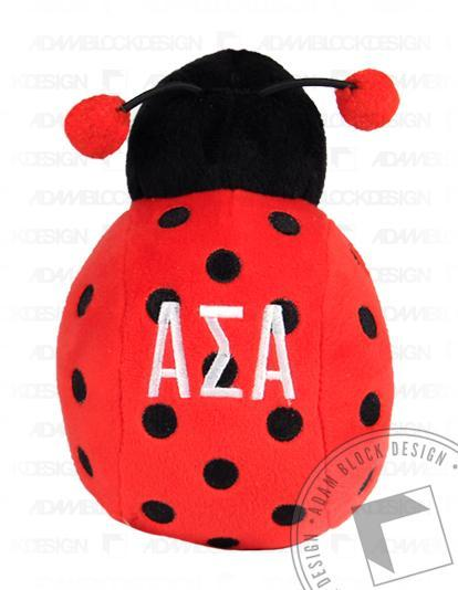 Alpha Sigma Alpha Ladybug Greekie-Adam Block Design
