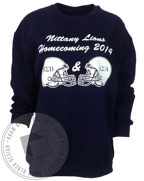 Alpha Sigma Alpha Lions Homecoming Sweatshirt-Adam Block Design