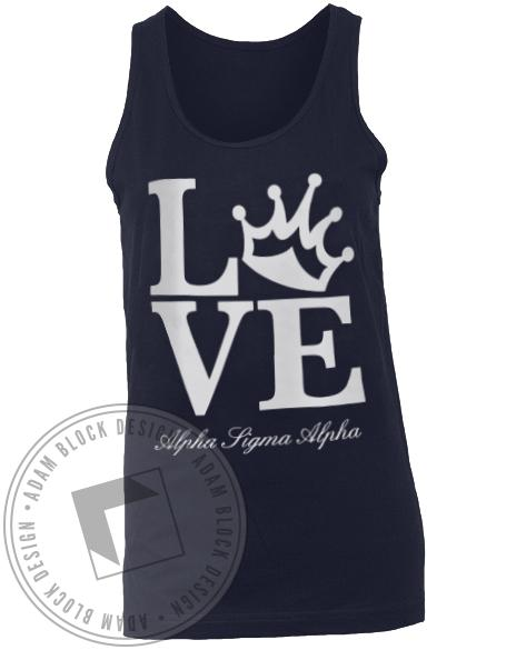Alpha Sigma Alpha Love Tank-Adam Block Design