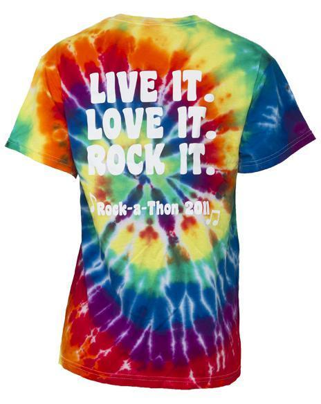 Alpha Sigma Alpha Tie Dye Love it Live it Tee-Adam Block Design