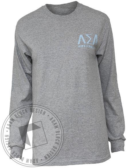 Alpha Sigma Alpha Wheel Long Sleeve Tee-Adam Block Design