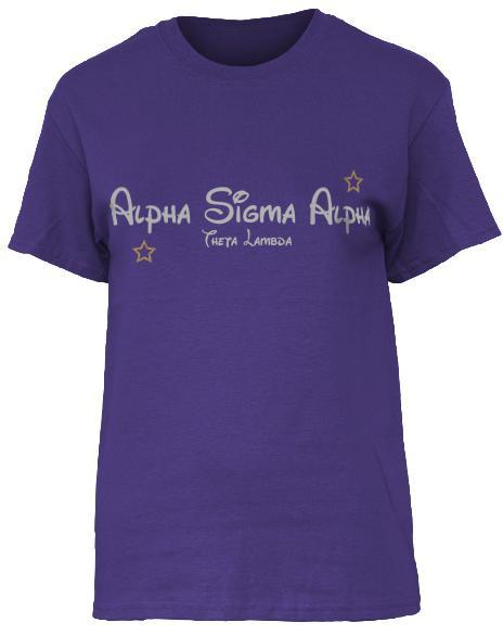 Alpha Sigma Alpha Wish Upon A Star T-Shirt-Adam Block Design