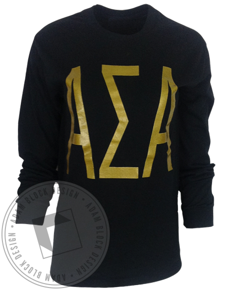 Alpha Sigma Alpha Woke Up Like This Longsleeve-gallery-Adam Block Design
