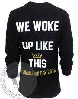 Alpha Sigma Alpha Woke Up Like This Longsleeve-Adam Block Design