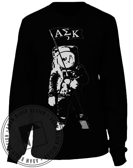 Alpha Sigma Kappa Out Of This World Long Sleeve-Adam Block Design