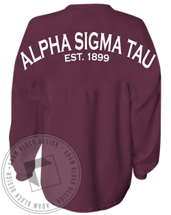 Alpha Sigma Tau 1899 Spirit Jersey-Adam Block Design
