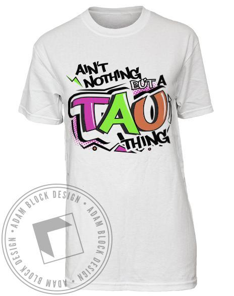 Alpha Sigma Tau 90's Tee-Adam Block Design
