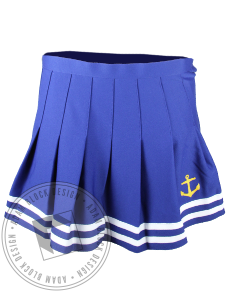 Alpha Sigma Tau Anchor Cheerleader Skirt-Adam Block Design