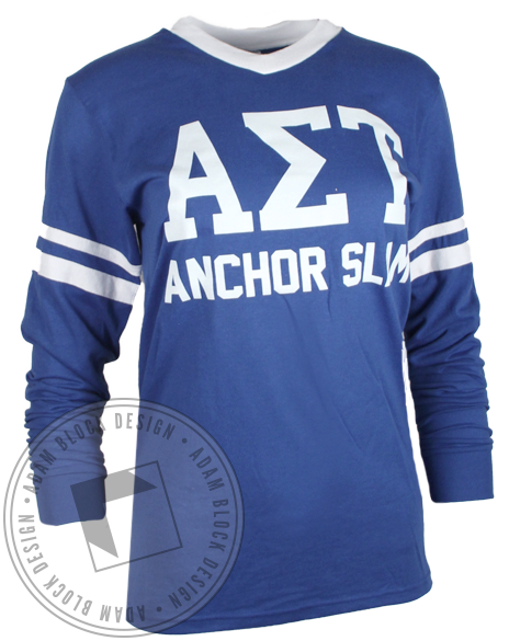 Alpha Sigma Tau Anchor Slam Jersey-Adam Block Design