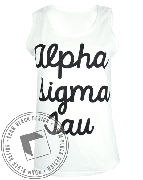 Alpha Sigma Tau Anchor Tank-Adam Block Design