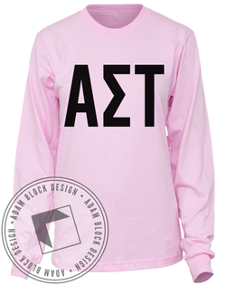 Alpha Sigma Tau Anchored Forever Long Sleeve-Adam Block Design