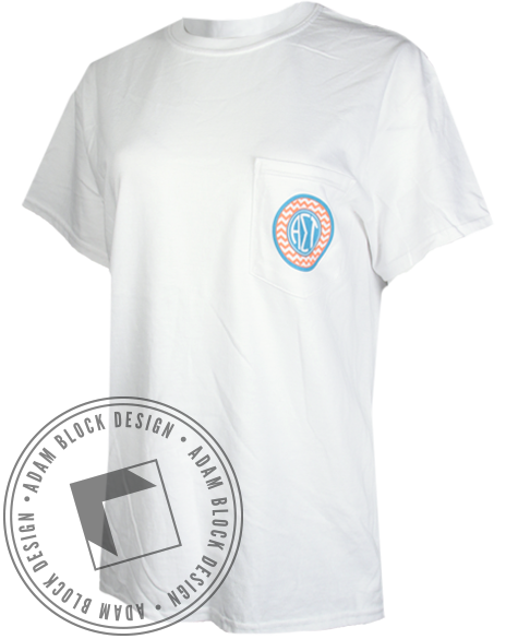 Alpha Sigma Tau Beauty Of Spirit Pocket Tee-gallery-Adam Block Design