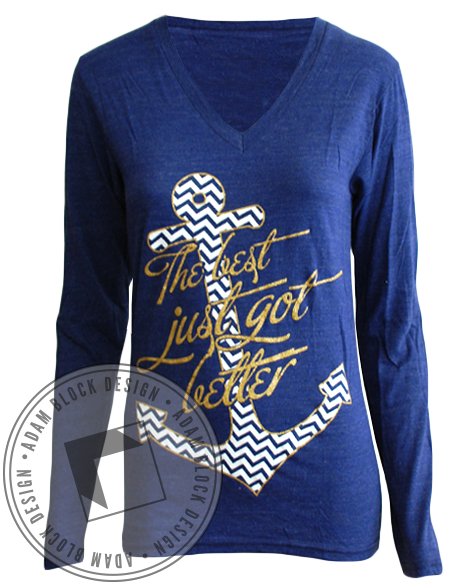 Alpha Sigma Tau Best Got Better Long Sleeve-Adam Block Design