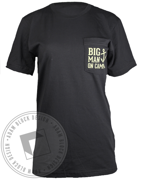 Alpha Sigma Tau Big Man On Campus Tee-Adam Block Design