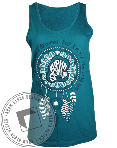 Alpha Sigma Tau Dreamcatcher Tank-Adam Block Design