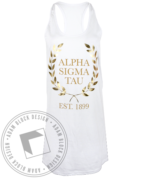 Alpha Sigma Tau Greek Goddess Dress-gallery-Adam Block Design