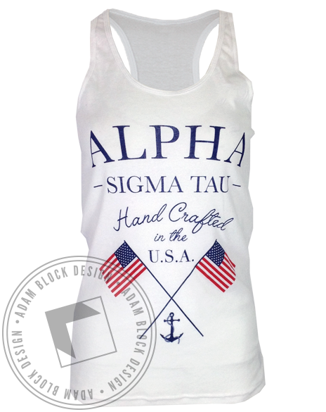 Alpha Sigma Tau Hand Crafted Tank-gallery-Adam Block Design