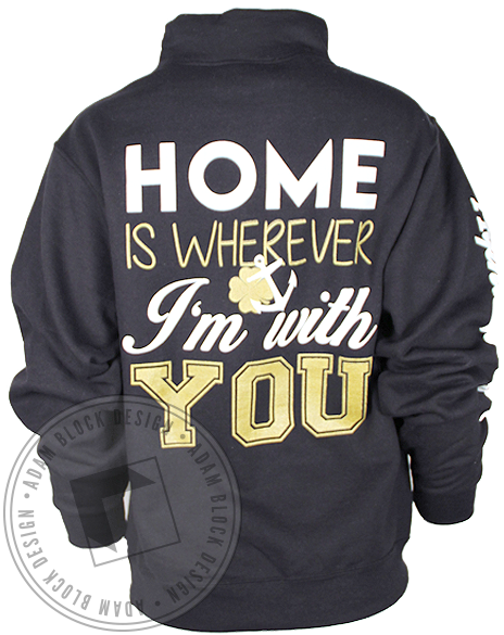 Alpha Sigma Tau Homecoming Halfzip Sweatshirt-gallery-Adam Block Design