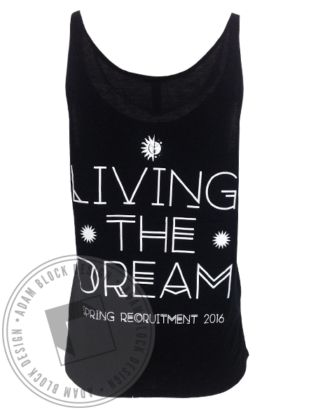 Alpha Sigma Tau Living The Dream Tank-Adam Block Design
