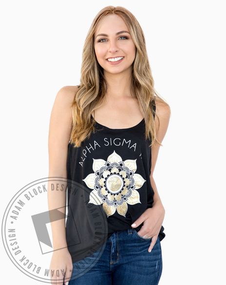 Alpha Sigma Tau Lotus Tank-Adam Block Design