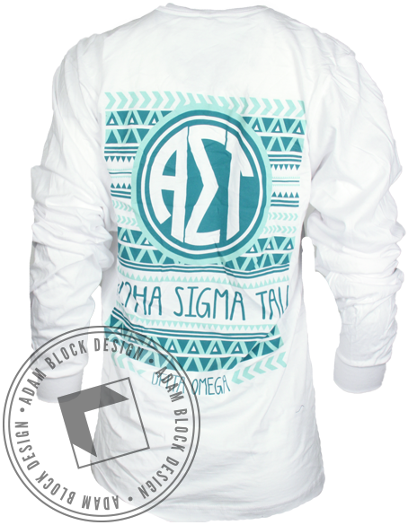 Alpha Sigma Tau Monogram Long Sleeve-Adam Block Design