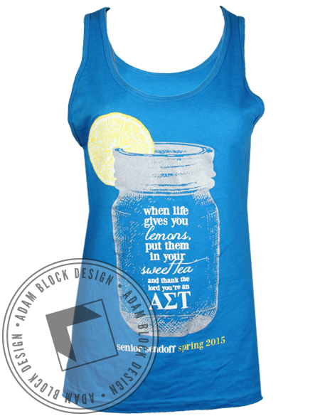 Alpha Sigma Tau Senior Send Off Tank-Adam Block Design
