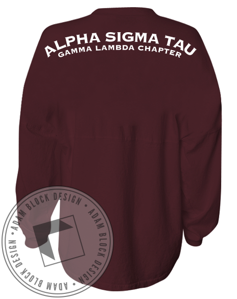 Alpha Sigma Tau Spirit Jersey-Adam Block Design