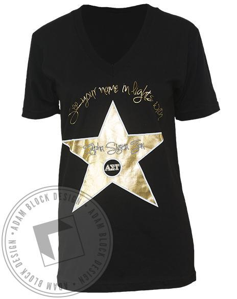 Alpha Sigma Tau Star V-neck-gallery-Adam Block Design