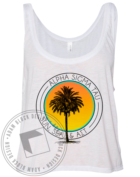 Alpha Sigma Tau Sun & Sea Tank-Adam Block Design