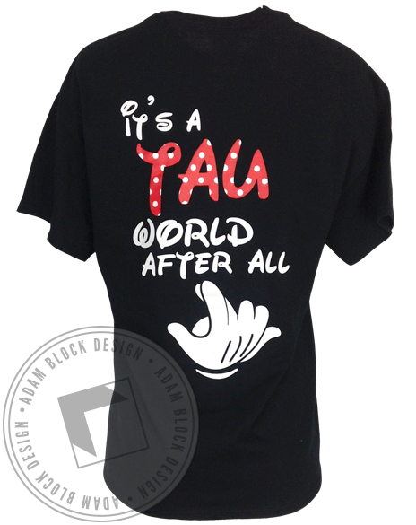 Alpha Sigma Tau World After All Tee-Adam Block Design