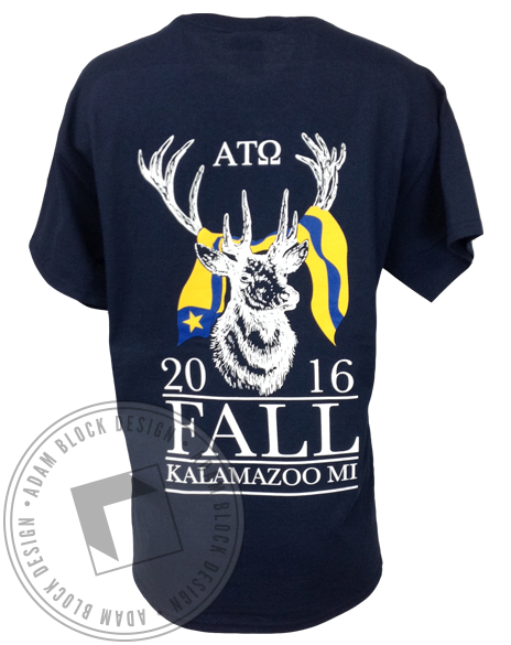 Alpha Tau Omega Fall Rush Tee-Adam Block Design