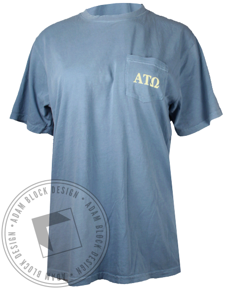 Alpha Tau Omega Take A Date Pocket Tee-gallery-Adam Block Design