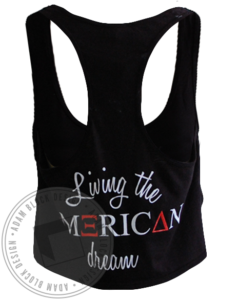 Alpha Xi Delta American Dream Crop Top-Adam Block Design