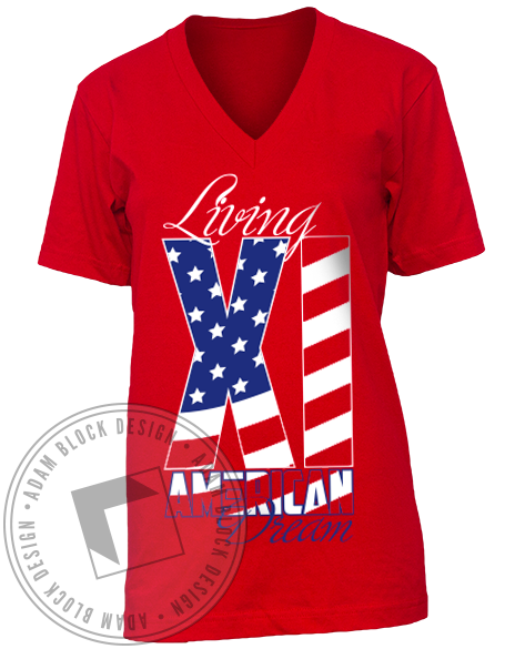 Alpha Xi Delta American Dream Tee-Adam Block Design