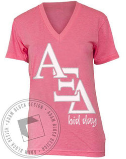 Alpha Xi Delta Around the World V-Neck-Adam Block Design