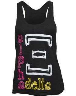 Alpha Xi Delta Bid Day Sun Tank-Adam Block Design