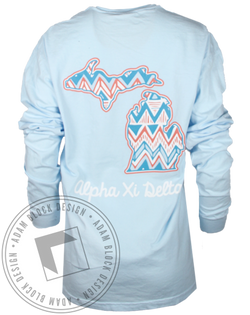 Alpha Xi Delta Chevron Longsleeve Shirt-Adam Block Design