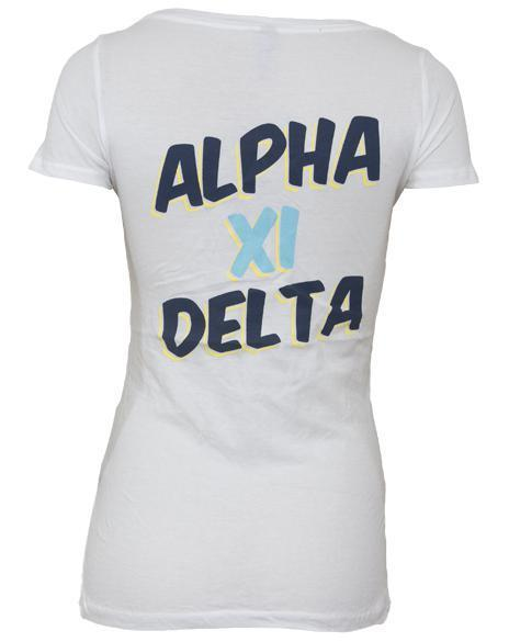 Alpha Xi Delta Cora Scoop Tee-Adam Block Design