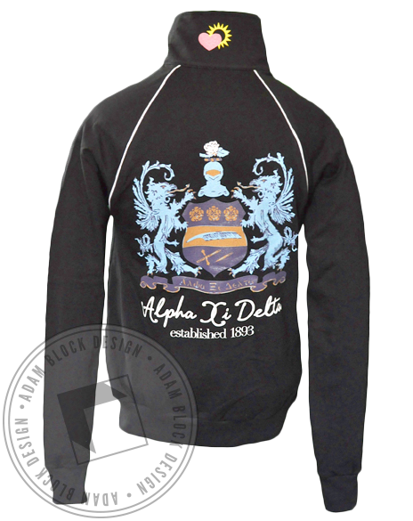 Alpha Xi Delta Crest Zip-Up-Adam Block Design