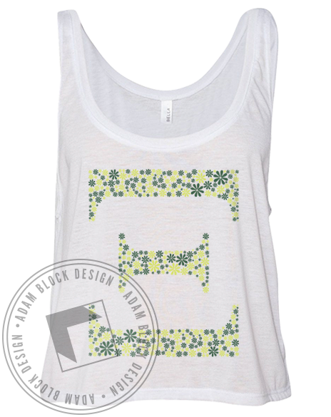 Alpha Xi Delta Daisy Tank Top-Adam Block Design