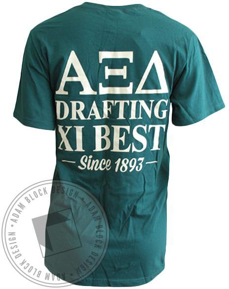 Alpha Xi Delta Drafting The Best Tee-Adam Block Design
