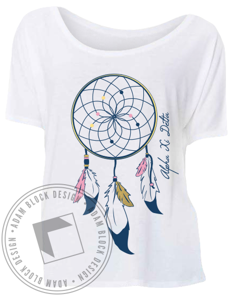 Alpha Xi Delta Dreamcatcher Tee-Adam Block Design
