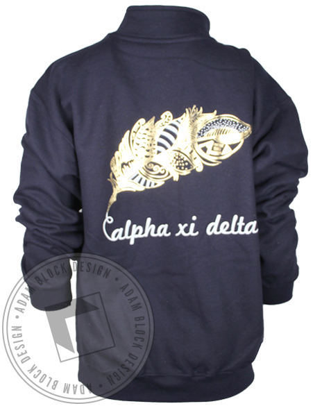 Alpha Xi Delta Feather Halfzip Jacket-Adam Block Design