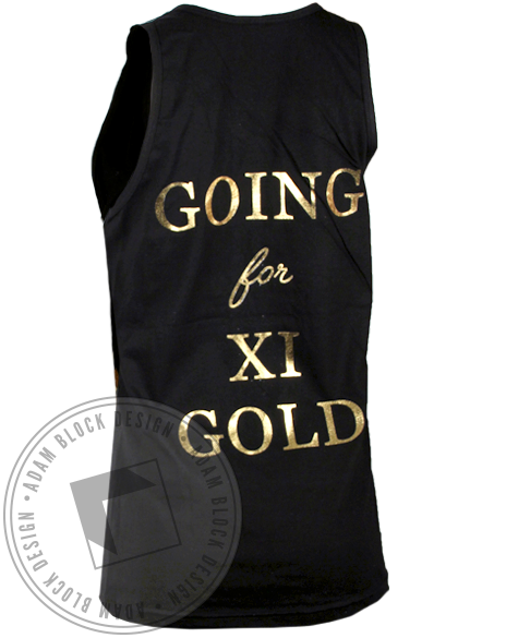 Alpha Xi Delta Going for Gold Tank Top-Adam Block Design