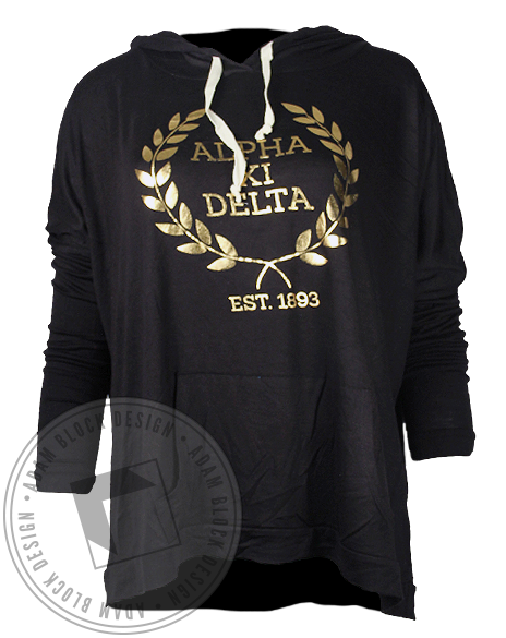 Alpha Xi Delta Golden Ivy Hoodie-gallery-Adam Block Design