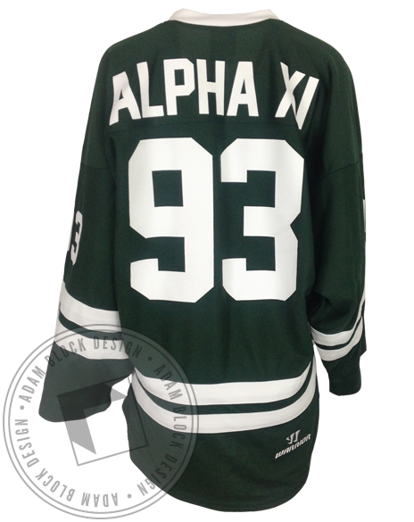 Alpha Xi Delta Hockey Jersey-Adam Block Design