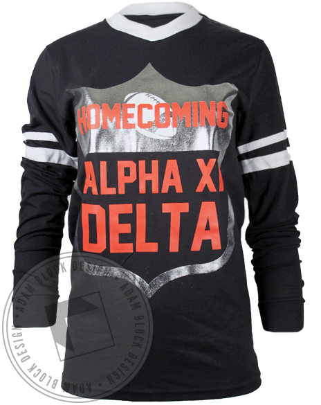 Alpha Xi Delta Homecoming Jersey-Adam Block Design